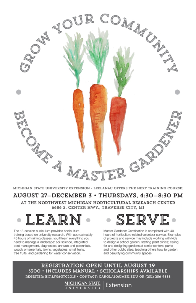 MSU Extension Master Gardener program poster - Carrots