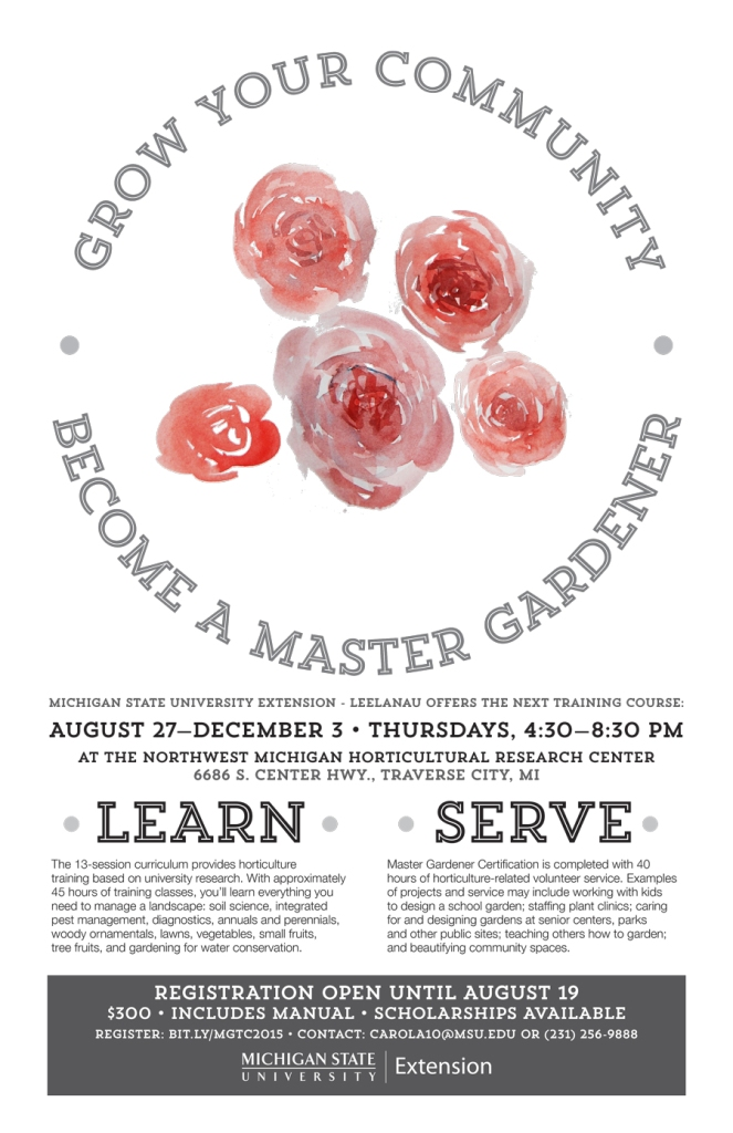MSU Extension Master Gardener program poster - Roses