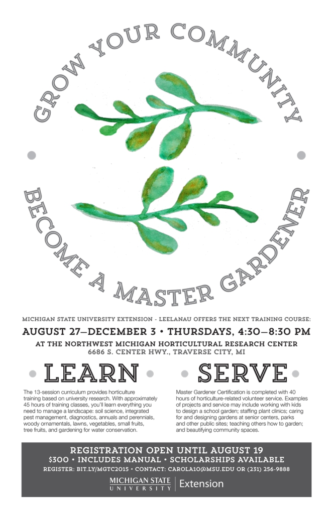 MSU Extension Master Gardener program poster - Leaves
