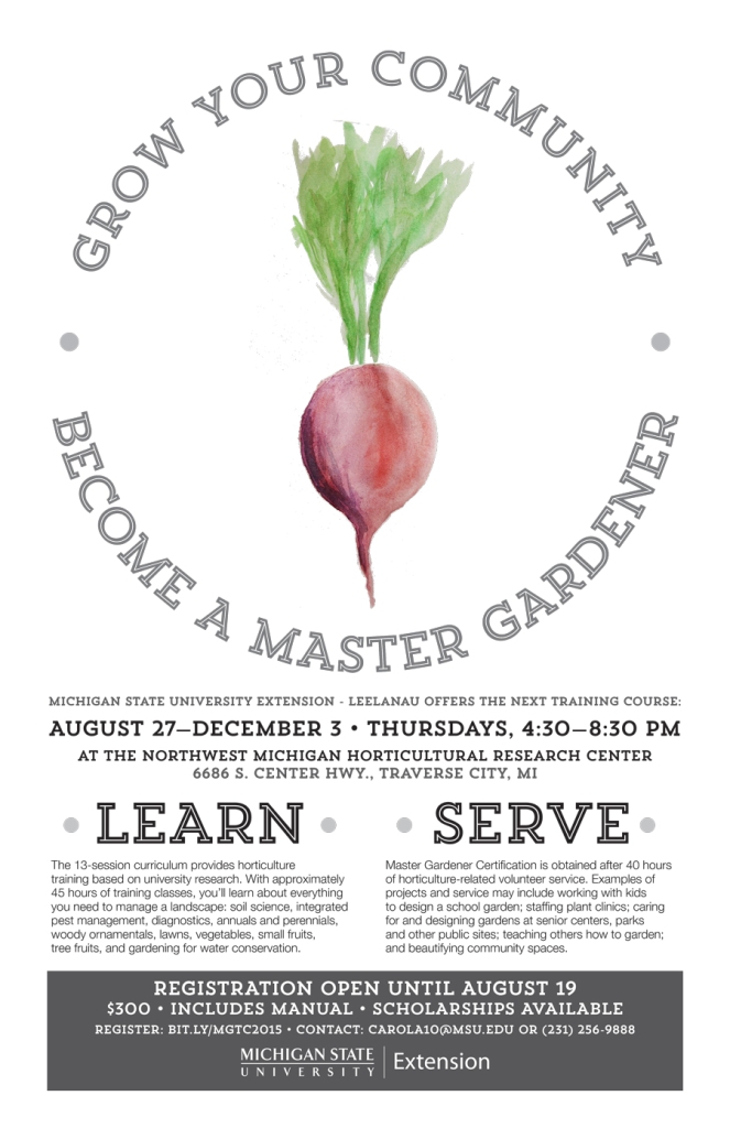 MSU Extension Master Gardener program poster - Radish
