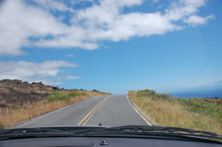 Driving the south rim on the Road to Hana in Maui