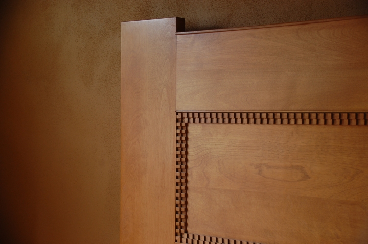 Frank Lloyd Wright Home and Studio Chicago Tour - Bedroom Headboard