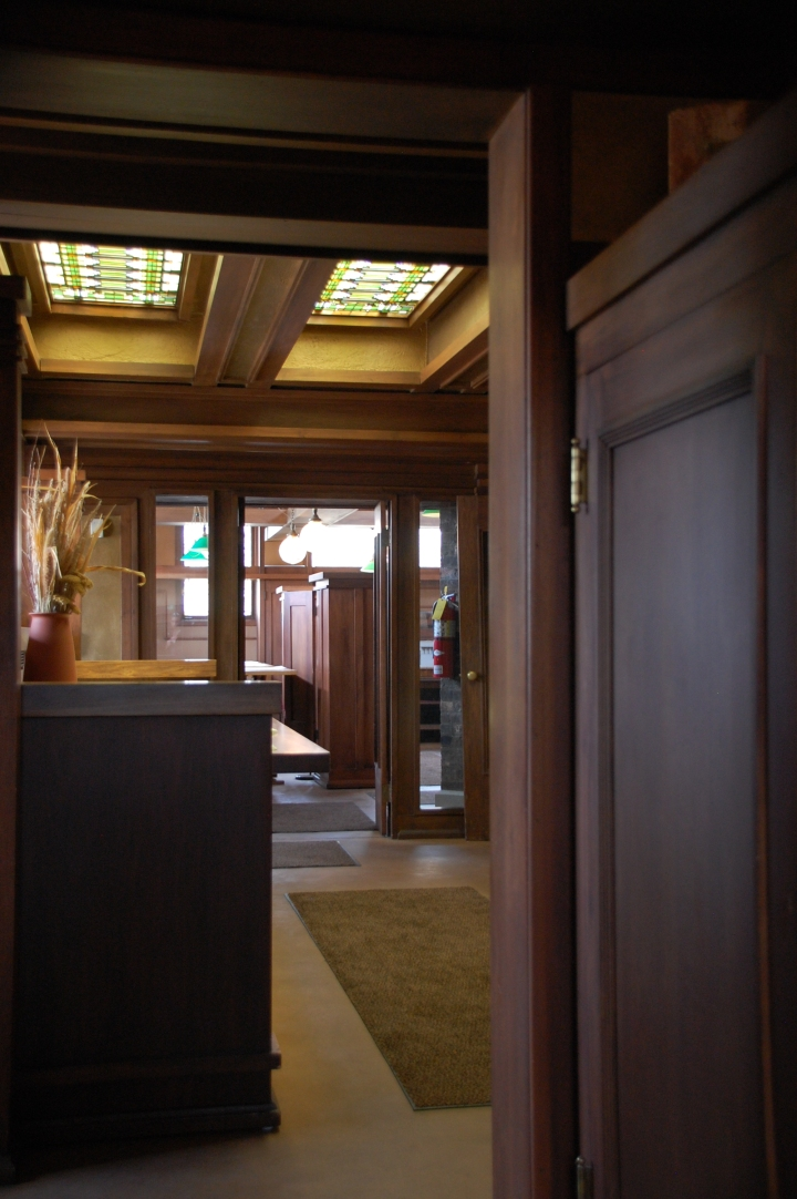 Frank Lloyd Wright Home and Studio Chicago Tour - Studio Drafting Room Drawings