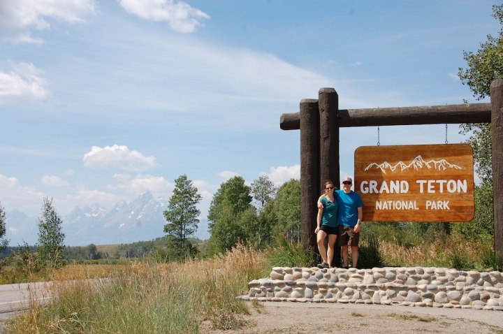 Entering Grand Teton National Park