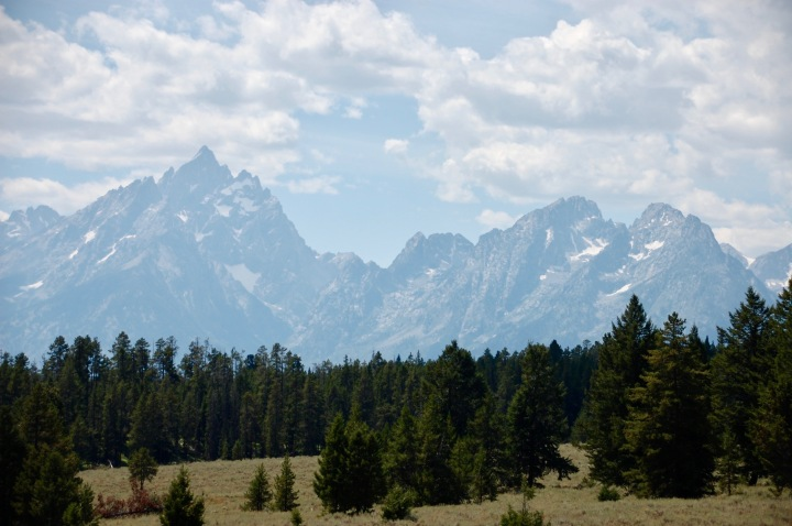 Mountain in Grand Teton National Park - view from the summit