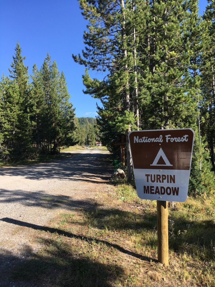 Turpin Meadow campground in Bridger-Teton National Forest near Grand Teton National Park