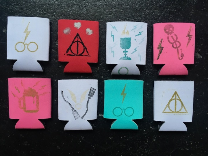 Harry Potter Koozie Wedding Stamps Icons 3