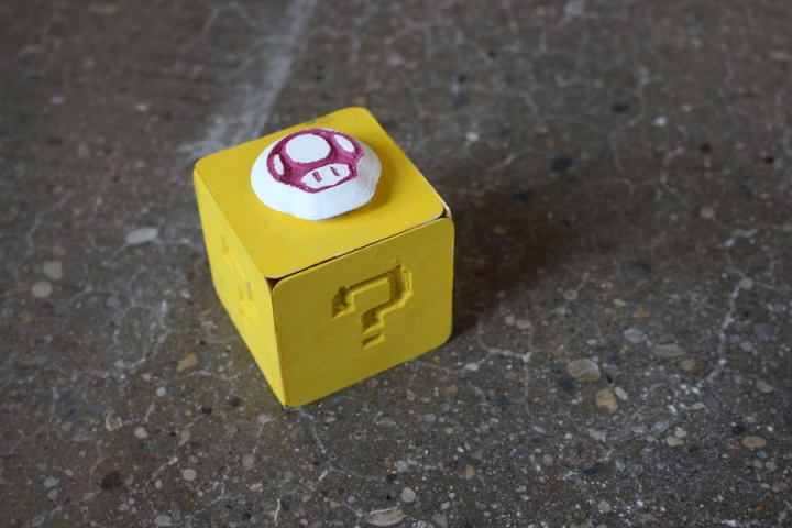 Mario Question Mark Box V-Carved Mini Box 2