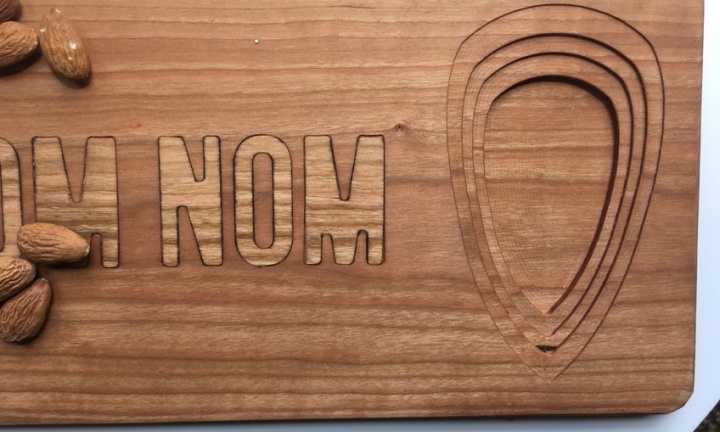 Nom Nom Inlay Cutting Board with Dish 2