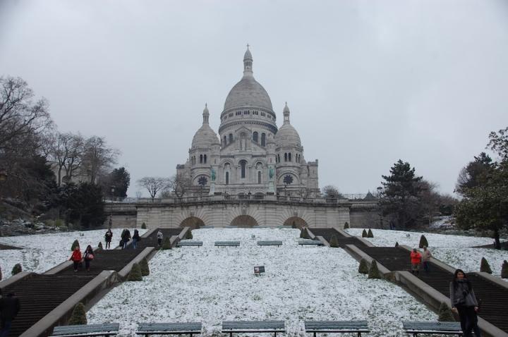 Sacré-Cœur Paris in the snow