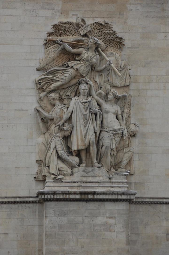 Arc de Triomphe Paris close-up