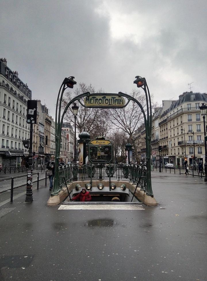 Paris - metro station entrance
